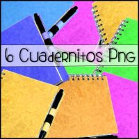 6 Cuadernitos Png de Diferentes colores by KawaiiLovec