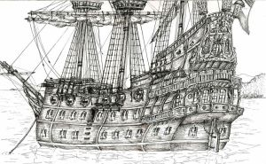 East Indiaman by WolfFlunky