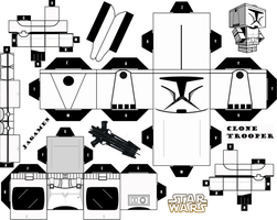 Clone Trooper ver. 2 Cubeecraft by JagaMen