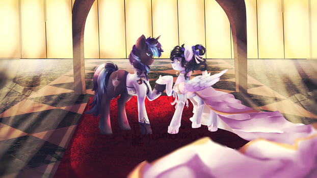 COMMISSION: Wedding day by dream--chan