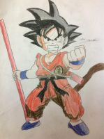 Kid Goku (colored) by fakhri821999
