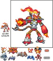 Armored Infernape by SuperSonicGX