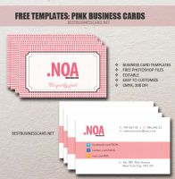 Pink Social Business Card for Designers by fiftyfivepixels