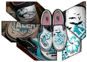 Turquoise Vans by Akissi