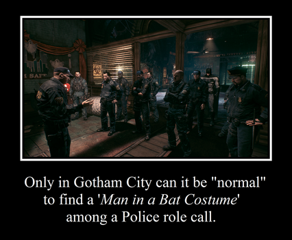 Gotham Police and Batman by MetroXLR