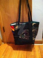 Upcycled Superman T-shirt Bag by snowtigra