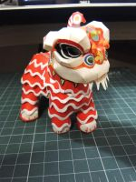 Lion Dance Papercraft by bslirabsl