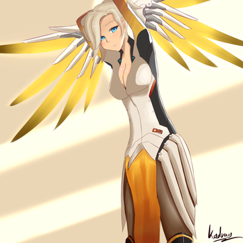 Mercy - Overwatch by Kadrag