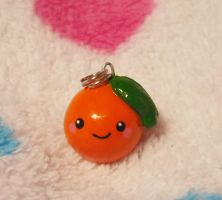 Cute Orange Fruit Charm by Panduhmonium