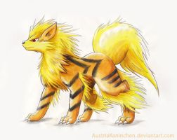 Watercolor Arcanine by AustriaKaninchen