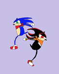 Art Trade-Sonic and Shadow by STORMERS-ATTITOONS