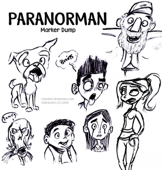 ParaNorman Marker Dump by TheMarquisOfDorks