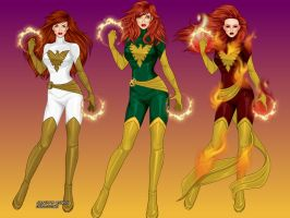 The 3 Faces of Jean Grey by MoonStar757