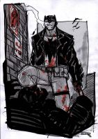Batman Rockabilly alley sketch by DenisM79