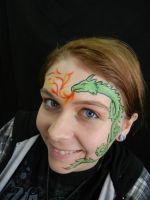 Face Paint: Dragon with Flames by EmoMadaraUchiha