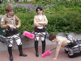 Animecon XI - SnK group cosplay by xXGiggleDeathProXx