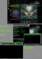 My System shock 2 themed laptop by bloodwolf8
