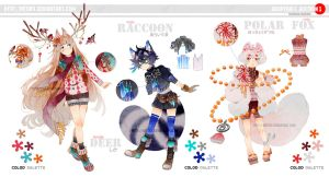 Adoptable auction: KEMONOMIMI + EXTRA [CLOSED] by Hetiru
