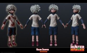 Killua Zoldyck- Zbrush Sculpt by Gashu-Monsata