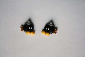 Bob-Omb earrings by LittleLoveInc