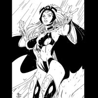 Storm by Art Adams Inks by ME by JamesLeeStone