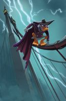 Darkwing Cover - First Draft by lazesummerstone
