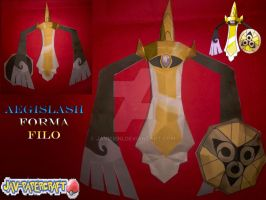 Aegislash edge form papercraft by javierini