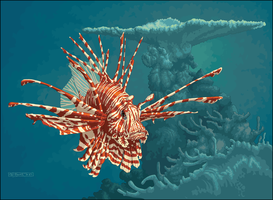 Pterois volitans by tomb1