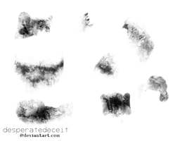 Tenebrous 9 Grunge Brushes by desperatedeceit