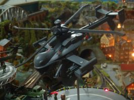 AH-112 Drone Attack Helicopter Jigabachi  takeoff by Krulos