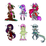 Minidopts set 8 monsters set price (OPEN) 5 left by FancySmancy-adopts