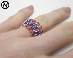 Genderbent Chainmaille ring by Zeroignite