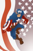Captain America by moobyj