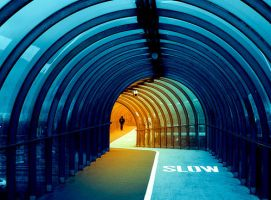 Sea Tunnel in Glasgow by kharashov