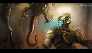 Dead Space Speed Paint by SamTheConceptArtist