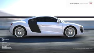 Audi R8 Background by eslamdesigns