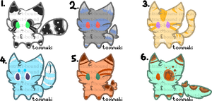 Chibi Kittens Batch 1 by Contract-Bound