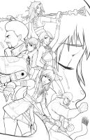 FF13 Lineart by Robaato