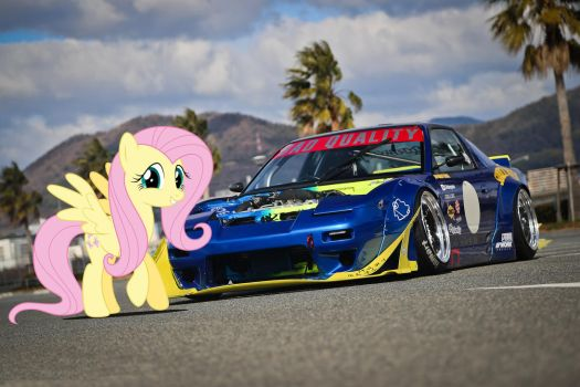 Fluttershy's Sunoco 180SX by Touge-Roadster