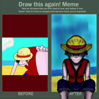 redone-it Luffy by dragonfire53511