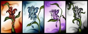 Butterfly Dragons by PeziCreation