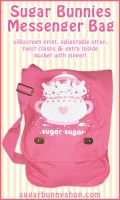 Sugar Bunnies Messenger Bag by celesse