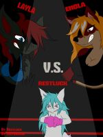 Layla and Enola vs Restluck [Front Page] by 3DBoxing