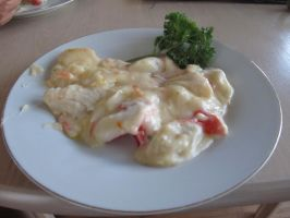 Fish in melted cheese :D by ZeCrazyAngel