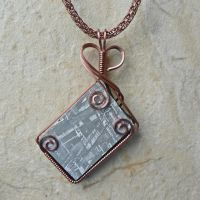Gibeon Meteorite Pendant with Viking Knit by magpie-poet