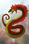 Feathered Serpent by HeilyBlue