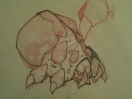 Starcraft 2 Baneling Sketch by yellow-five