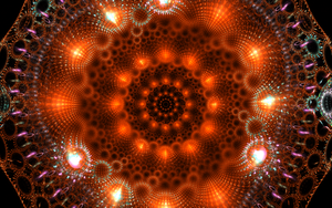 orange rounding with bright lights by Andrea1981G
