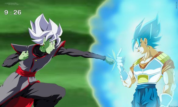 Final Fight: Zamasu Vs Vegetto SSJ Blue by IITheDarkness94II