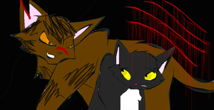 Ravenpaw and Tigerclaw by AshtailXMoonfrost